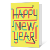 Minty Fresh Printable New Year's Day Cards