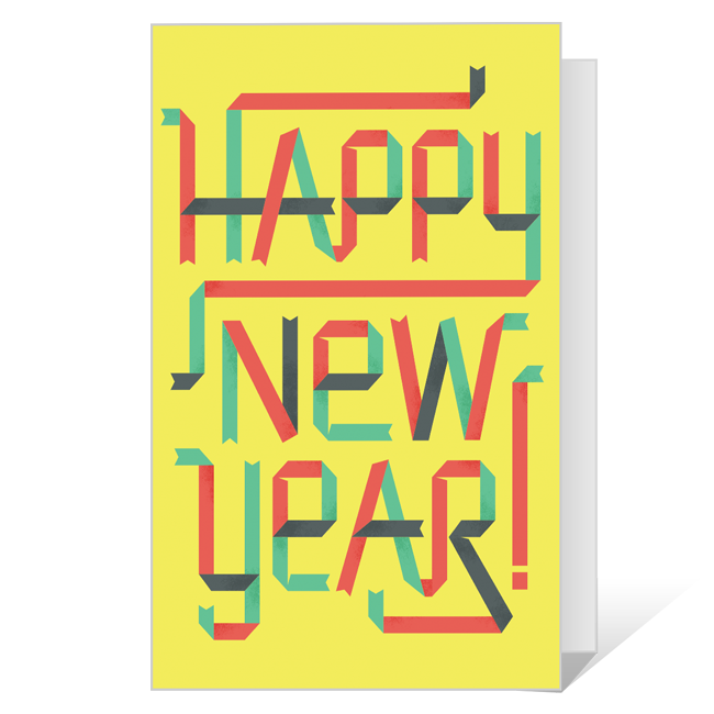 Minty Fresh<br>Printable New Year's Day Cards