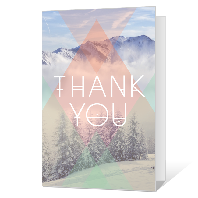 Totally Majestic<br>Printable Thank You Cards