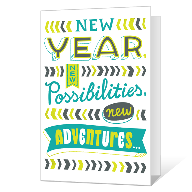 Happy Us!<br>Printable New Year's Day Cards