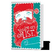 Made the List Printable Christmas Cards
