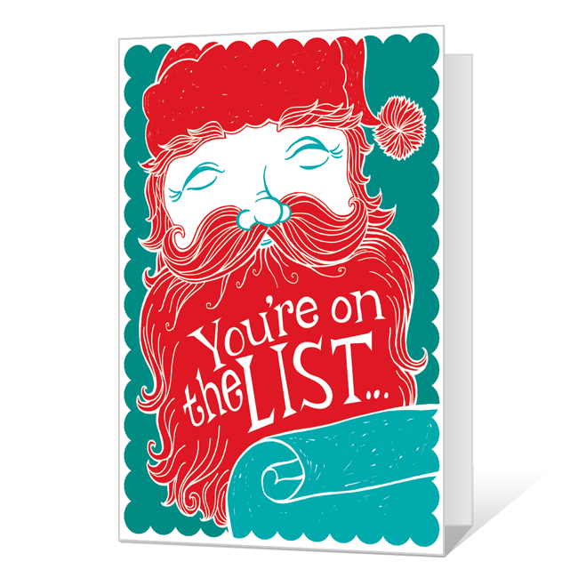 Made the List<br>Printable Christmas Cards