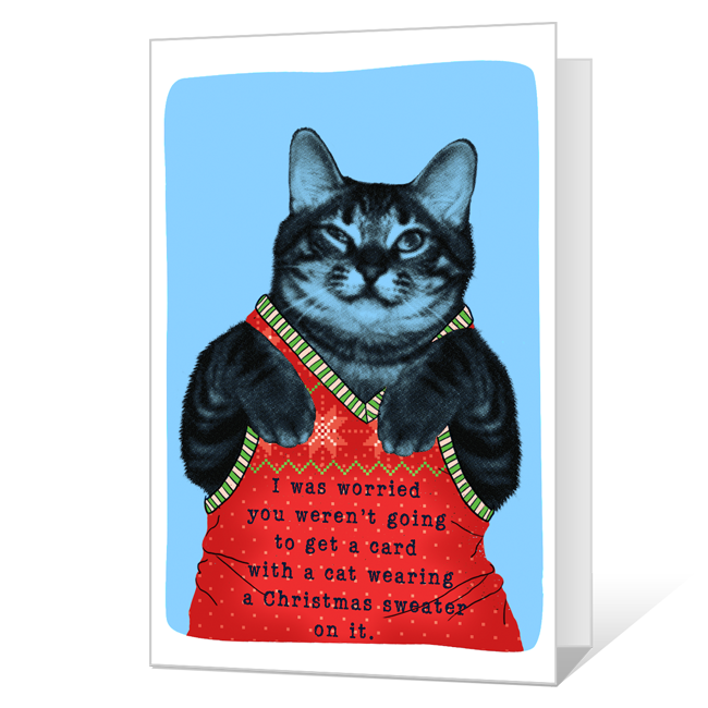 Meowy Christmas<br>Printable Christmas Cards