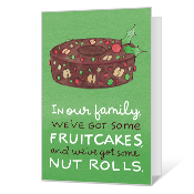 Pretty Nuts Printable Christmas Cards