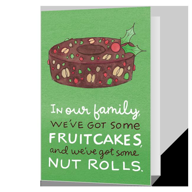 Pretty Nuts<br>Add-a-Photo Christmas Cards