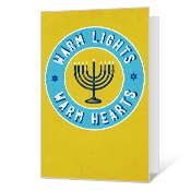 Bright Wishes Printable Hanukkah Cards