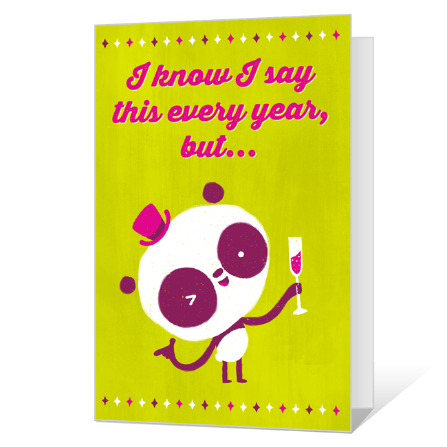 Same Old Thing<br>Printable New Year's Day Cards