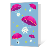 Here We Snow! Printable Season's Greetings Cards