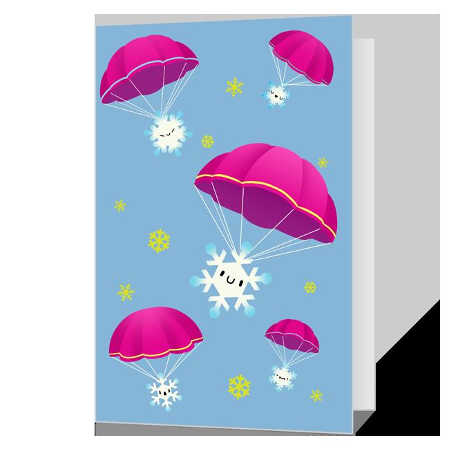 Here We Snow!<br>Printable Season's Greetings Cards