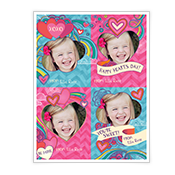 Valentine Heart Doodles Kids Add-a-Photo Valentine's Day Cards
