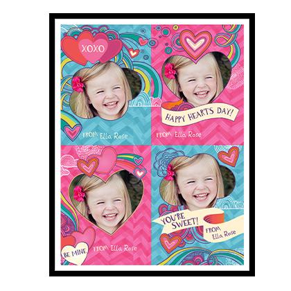 Valentine Heart Doodles<br>Kids Add-a-Photo Valentine's Day Cards