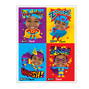 Superhero Valentines Kids Add-a-Photo Valentine's Day Cards