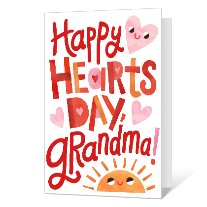 Happy Hearts Day, Grandma! Valentine's Day Cards