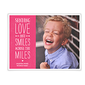 Smiles from Across the Miles Add-a-Photo Valentine's Day Cards