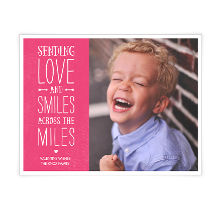 Smiles from Across the Miles<br>Add-a-Photo Valentine's Day Cards