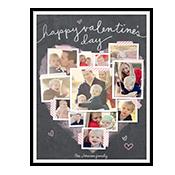 Valentine Heart Collage Add-a-Photo Valentine's Day Cards