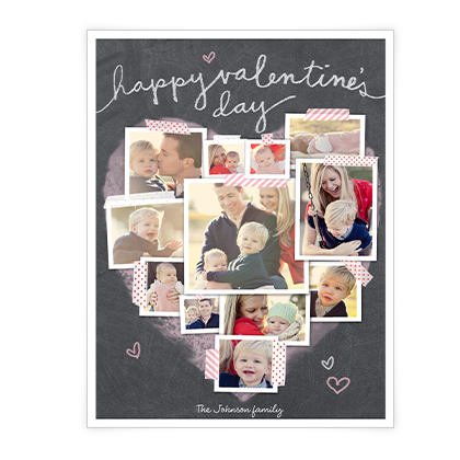 Valentine Heart Collage<br>Add-a-Photo Valentine's Day Cards