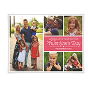Sending Love Add-a-Photo Valentine's Day Cards
