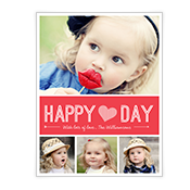 Happy Heart Day Add-a-Photo Valentine's Day Cards