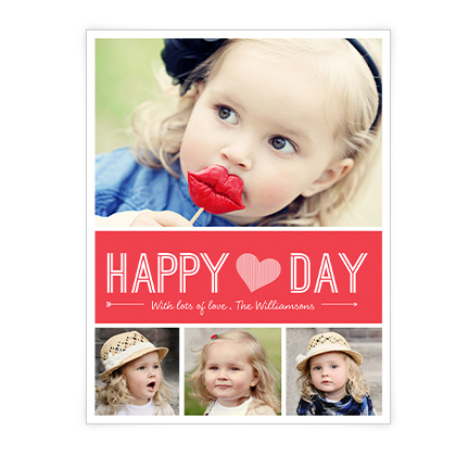 Happy Heart Day<br>Add-a-Photo Valentine's Day Cards
