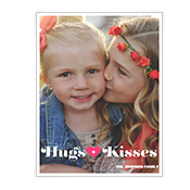 Hugs + Kisses Add-a-Photo Valentine's Day Cards