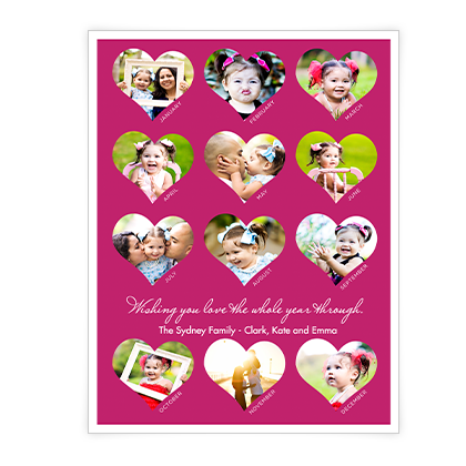 Whole Year Of Love<br>Add-a-Photo Valentine's Day Cards