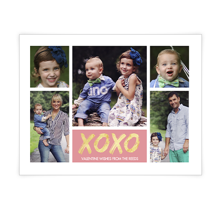 XOXO Add-a-Photo Valentine's Day Cards