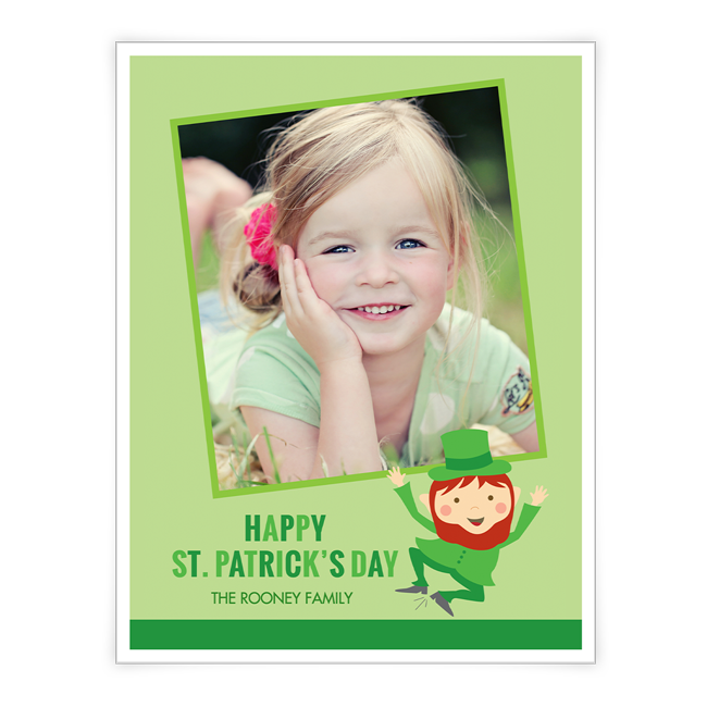 Leprechaun Wishes<br>Add-a-Photo St. Patrick's Day Cards
