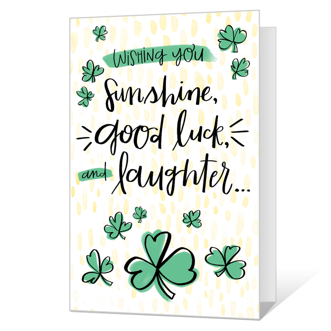 Sunshine and Laughter St. Patrick's Day Cards