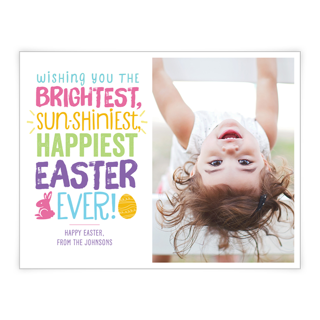Bright and Shiny Easter<br>Add-a-Photo Easter Cards