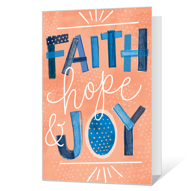Faith Hope & Joy Easter Cards