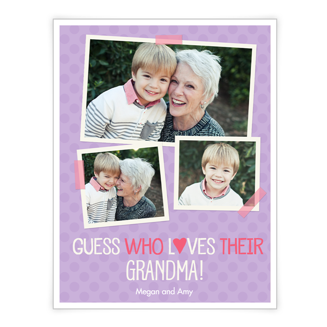 Love to Grandma <br> Add-a-Photo Mother's Day Cards