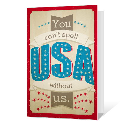 You, Me and Liberty<br>Add-a-Photo Independence Day Cards