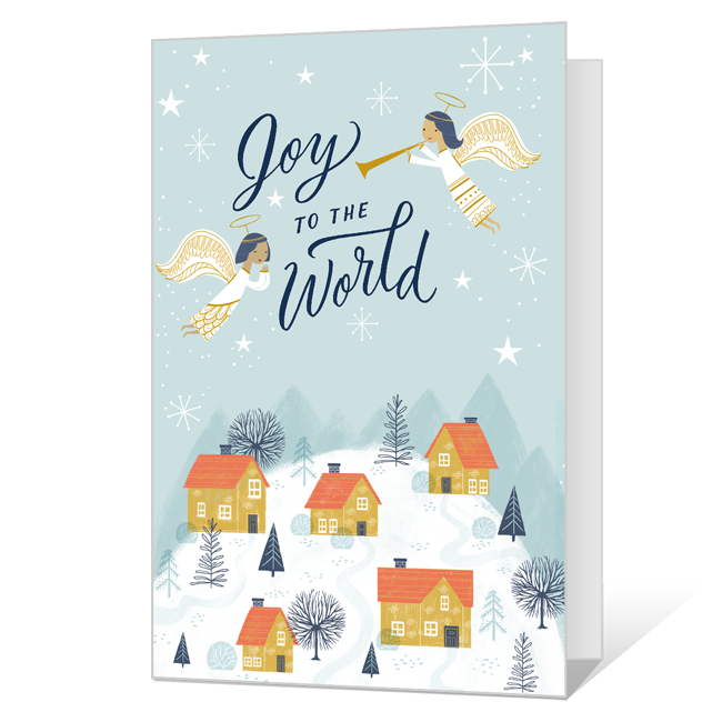 The Angels' Song, a Baby's Cry Printable Christmas Cards