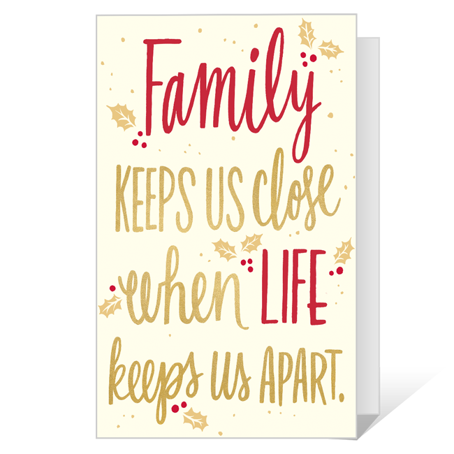 Family Means So Much Printable Christmas Cards