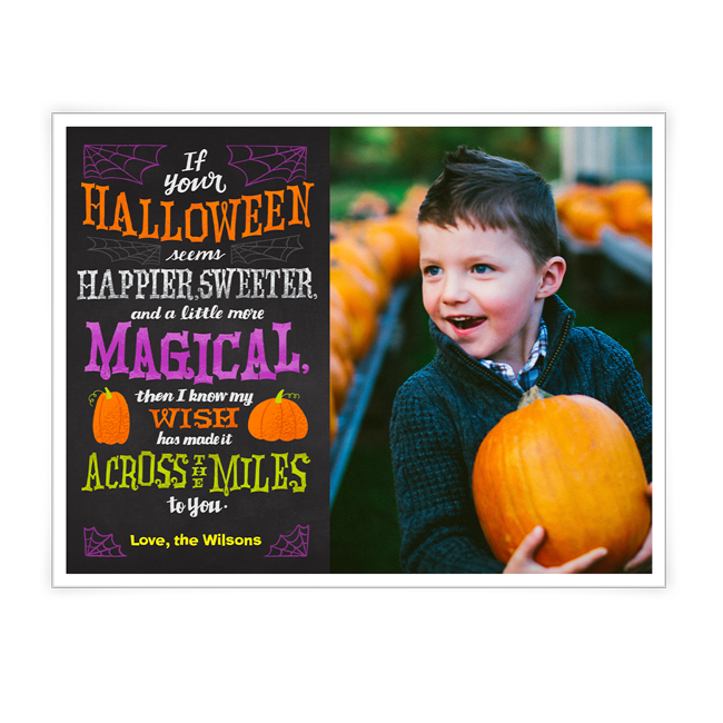A Halloween Wish Across the Miles<br>Add-a-Photo Halloween Cards