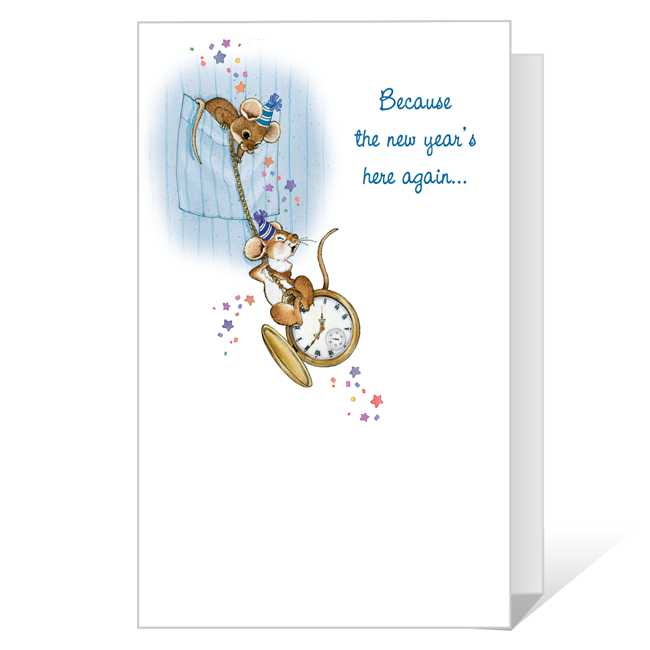 A Wish of Cheer to You Printable New Year's Day Cards