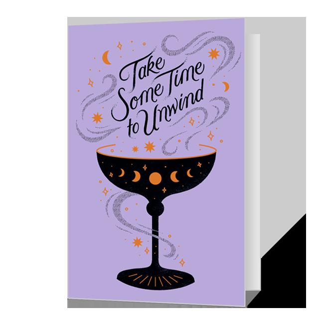Unwind at Halloween Halloween Cards