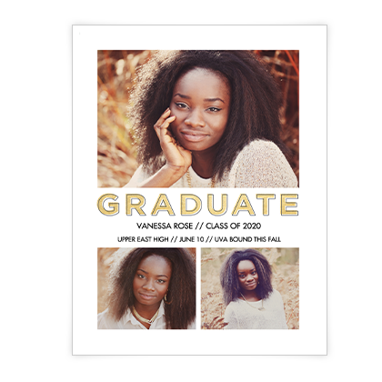 Graduate Announcement<br>Add-a-Photo Graduation Cards