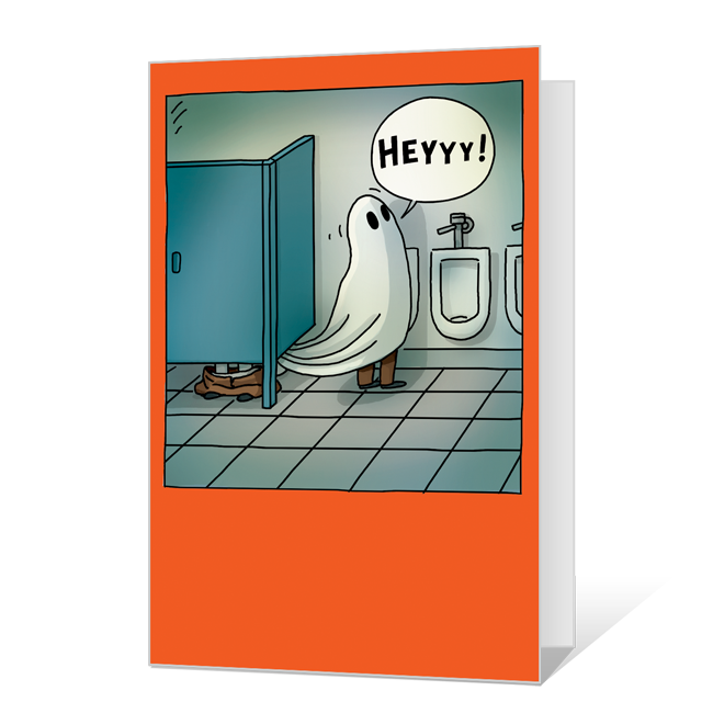 Toilet Paper Ghost<br>Add-a-Photo Halloween Cards