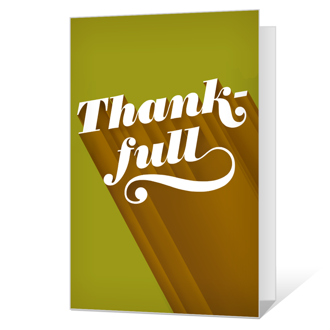 Thank-full Printable (Add-a-Photo) Thanksgiving Cards