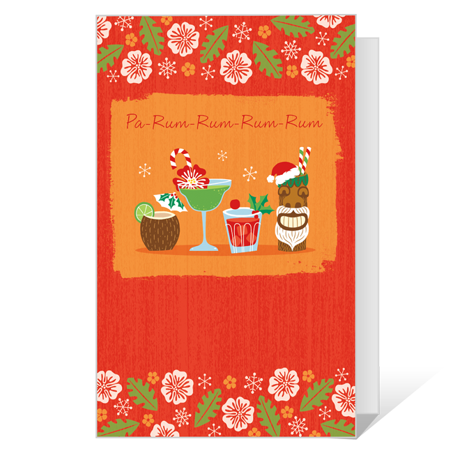 A Toast to the Holidays! Printable Christmas Cards