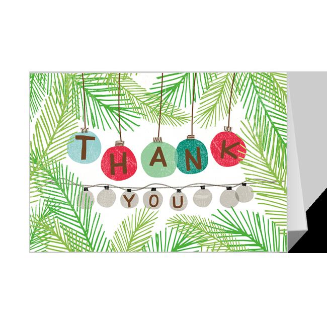 Holiday Thanks Printable Christmas Cards
