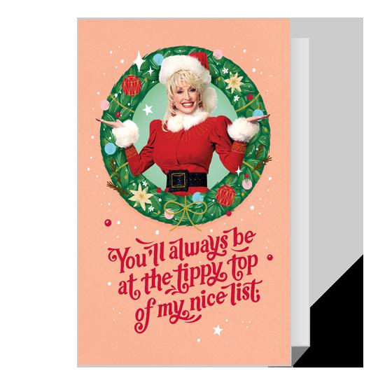 Dolly Naughty or Nice Christmas Printable Christmas Cards