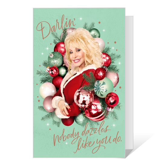 Dolly You Sparkle Christmas Printable Christmas Cards