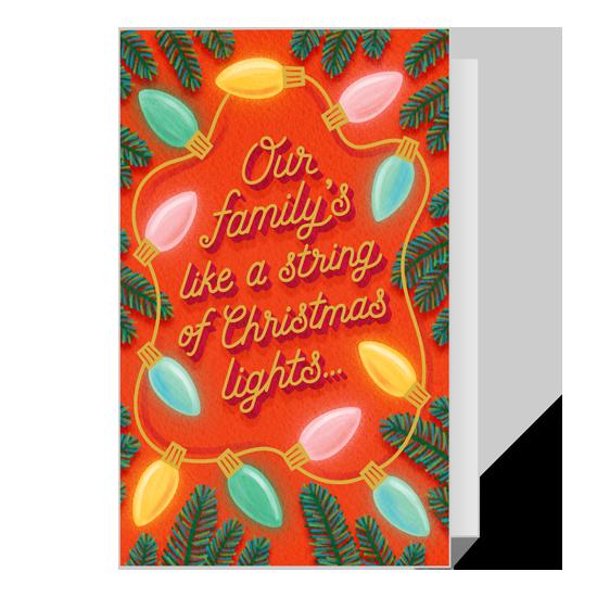 Dolly Christmas Lights Printable Christmas Cards