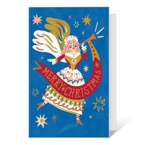 Dolly Christmas Blessings Printable Christmas Cards