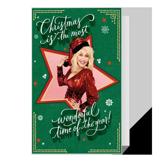 Dolly Most Wonderful Time Christmas Printable Christmas Cards