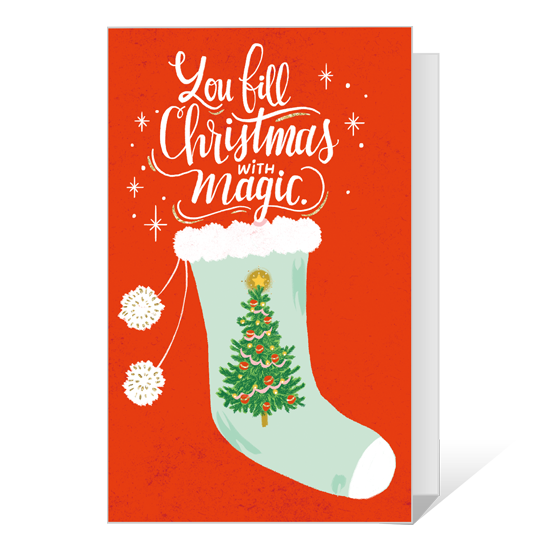 Dolly Christmas Magic Printable Christmas Cards