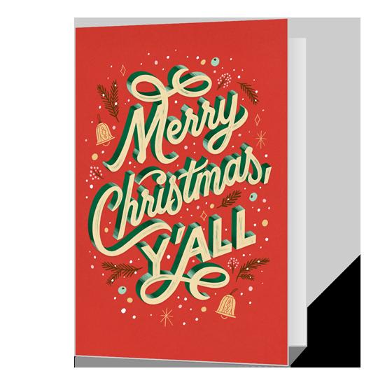 Dolly Christmas, Y'All Printable Christmas Cards